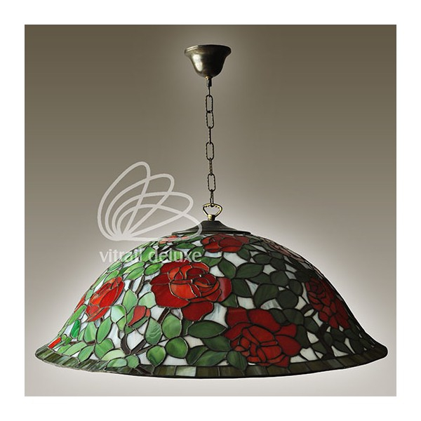 Lampa witrażowa Rosa Rosso P1212